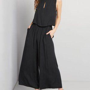 Modcloth Black Versatile Charm Sleeveless Jumpsuit